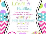 Birthday Invitations 14 Year Old Party 12 Peace Love Painting Party Birthday by Noteablechic On