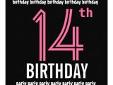 Birthday Invitations 14 Year Old Party 14th Birthday Party Invitation Template Pink Black 5 25