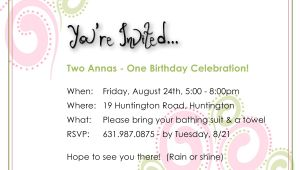 Birthday Invitations 14 Year Old Party Birthday Party Invitation for Two 14 Year Old Girls Final