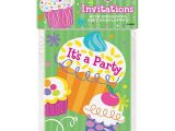 Birthday Invitations at Walmart Cupcake Party Invitations 8pk Walmart Com