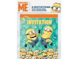 Birthday Invitations at Walmart Despicable Me Minions Invitations 8ct Party Supplies