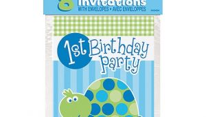 Birthday Invitations at Walmart First Birthday Turtle Invitations 8pk Walmart Com