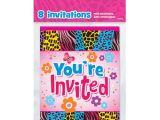 Birthday Invitations at Walmart Wild Birthday Invitations 8pk Walmart Com