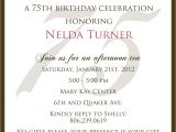 Birthday Invitations for 75th Party 75 Birthday Invitation Best Party Ideas