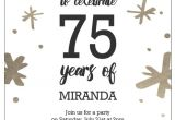 Birthday Invitations for 75th Party 75th Birthday Invitations 50 Gorgeous 75th Party Invites
