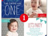 Birthday Invitations for Twins First Birthday 12 Twin Birthday Invitations Templates – Free Sample