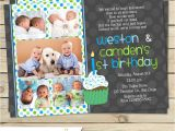 Birthday Invitations for Twins First Birthday Twin First Birthday Invitation Boy Twin 1st Birthday Invite