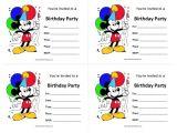 Birthday Invitations Free Printable Mickey Mouse Mickey Mouse Birthday Invitations Free Printable