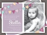 Birthday Invite Wording for 1 Year Old Bunting Invitation Printable Invite 1 Year Old 2 Year