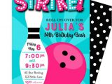 Birthday Party Invitation Template Bowling Bowling Invitation Printable or Printed with Free Shipping