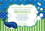 Birthday Party Invitation Template Boy Items Similar to Preppy Whale Birthday Invitation Boy