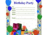 Birthday Party Invitation Template Free Free Birthday Party Invitation Templates Party