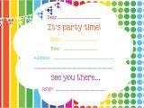 Birthday Party Invitation Template Free Free Printable Birthday Invitations Online Bagvania Free