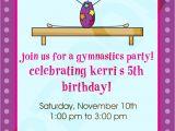 Birthday Party Invitation Template Gymnastics Free Printable Gymnastics Birthday Invitations Free