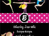 Birthday Party Invitation Template Gymnastics Gymnastic Birthday Invitation Templates