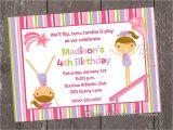 Birthday Party Invitation Template Gymnastics Gymnastics Birthday Invitations