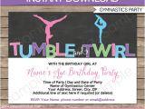 Birthday Party Invitation Template Gymnastics Gymnastics Invitation Template Gymnastics Birthday Party