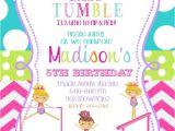 Birthday Party Invitation Template Gymnastics the Gymnastics Birthday Party Invitations Free Ideas
