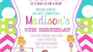 Birthday Party Invitation Template Gymnastics the Gymnastics Birthday Party Invitations Free Ideas