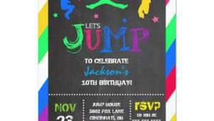 Birthday Party Invitation Template Trampoline Jump Bounce House Trampoline Birthday Invitation Zazzle Com