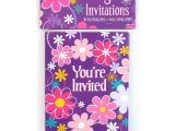 Birthday Party Invitations at Walmart Birthday Blossom Invitations 8 Count Walmart