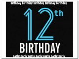 Birthday Party Invitations for 12 Year Olds 12 Year Old Boy Birthday Party Invitation Template