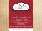 Birthday Party Invitations for 60 Year Old Birthday Birthday Invitations for 60 Year Old Man