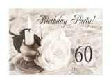 Birthday Party Invitations for 60 Year Old Birthday Party Invitation 60 Years Old