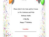 Birthday Party Invitations Template Birthday Party Invitations Template