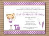 Birthday Party Invite Wording Drop Off Cooking Birthday Party Invitations Superb Drop Off Party