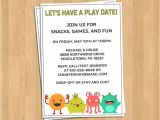 Birthday Party Invite Wording Drop Off Play Date Invitation Birthday Party Invitation Wording