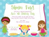 Birthday Party Invite Wording Drop Off Slumber Party Birthday Custom Digital Birthday Party