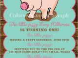 Birthday Party Poems for Invitations Piggy Invitation This Little Piggy Poem Birthday Invitation