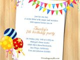Birthday Party Text Invite 7th Birthday Party Invitation Wording Wordings and Messages