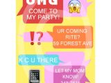 Birthday Party Text Invite Text Message Birthday Invite for 7 00 Invitations