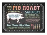 Birthday Pig Roast Invitations Chalkboard Pig Roast Invitations Classy Casual Zazzle