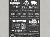 Birthday Pig Roast Invitations Chalkboard Pig Roast Party Invitation Birthday Summer