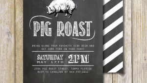 Birthday Pig Roast Invitations Pig Roast Party Invitation Birthday House Warming Couples
