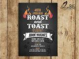Birthday Pig Roast Invitations Roast and toast Birthday Invitation Adult 21st 30th