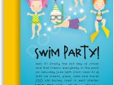 Birthday Pool Party Invitation Ideas Pool Birthday Party Invitation
