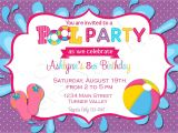 Birthday Pool Party Invitation Ideas Pool Party Birthday Invitation Free Thank You Card