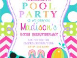 Birthday Pool Party Invitation Ideas Pool Party Invitations