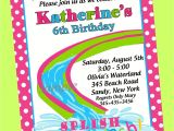 Birthday Pool Party Invitation Wording Birthday Pool Party Invitations Template