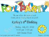 Birthday Pool Party Invitation Wording Pool Party Invitation Pool Birthday Invitation Swimming