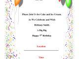 Birthday Postcard Invitations Templates Free Birthday Party Invitations Template theruntime Com