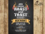 Birthday Roast Invitation Wording Roast and toast Birthday Invitation Adult 21st 30th 40th