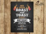 Birthday Roast Invitations Roast and toast Birthday Invitation Adult 21st 30th