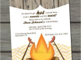 Birthday Roast Invitations Weenie Roast Adult Birthday Party