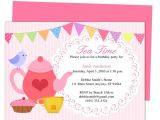 Birthday Tea Party Invitations Free afternoon Tea Party Invitation Party Templates Printable