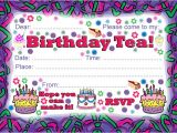 Birthday Tea Party Invitations Free Birthday Tea Party Invitation Rooftop Post Printables